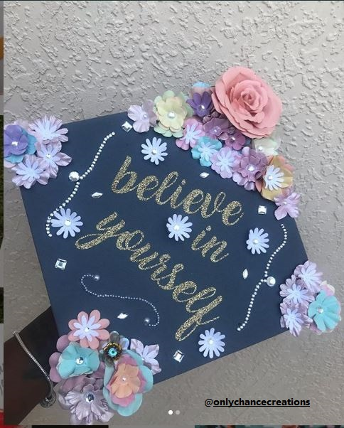 Navy Blue Funny Graduation Cap Ideas