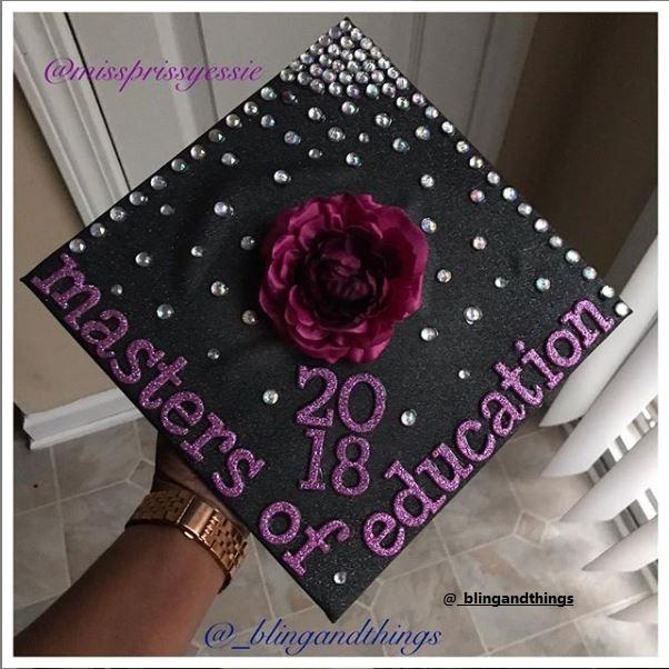 Purple Graduation Cap Ideas for Education Students