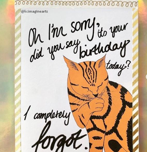 Prank Cat Cute Birthday Card Ideas
