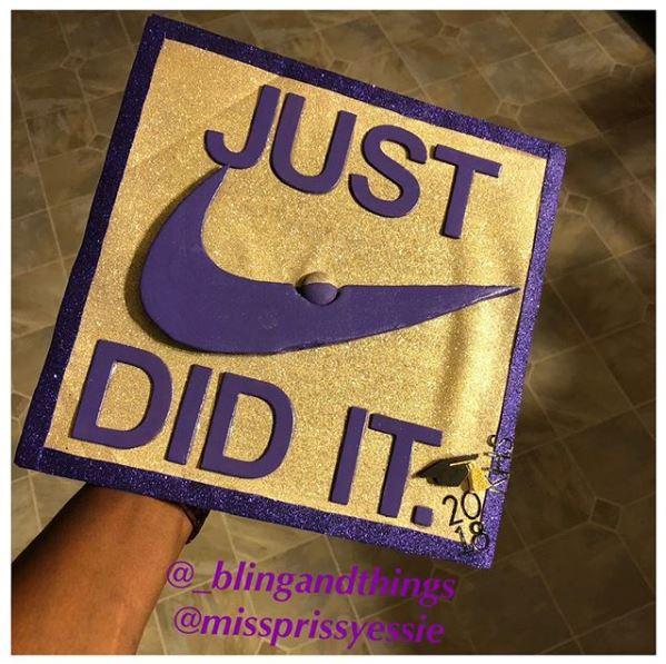 Nike-themed Funny Graduation Cap Ideas