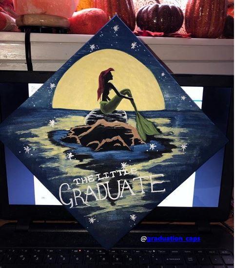 the little mermaid graduation cap