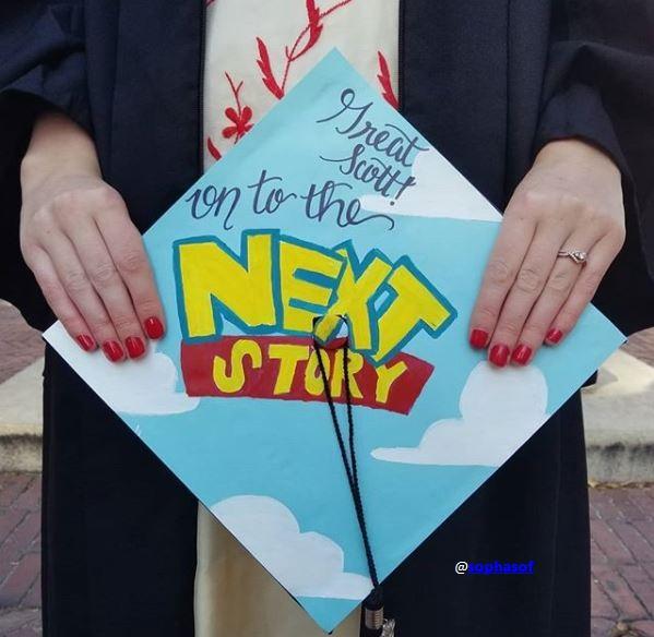 Toy Story Movie Themed Graduation Cap