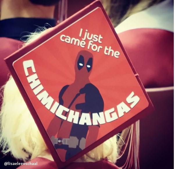 Deadpool Movie Themed Graduation Cap