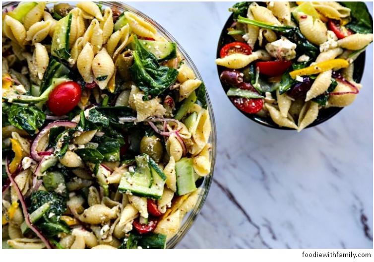 Veggie Lover's Greek Pasta Salad