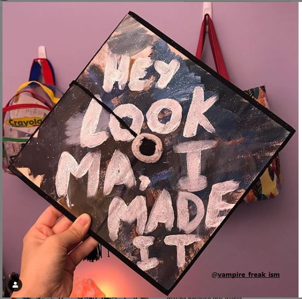 Abstract Graduation Cap for Your Mom