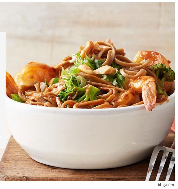 Gluten Free Shrimp and Soba Noodles