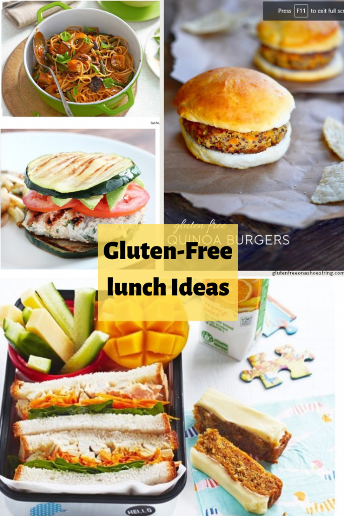10+ Easy to Serve Gluten Free lunch Ideas