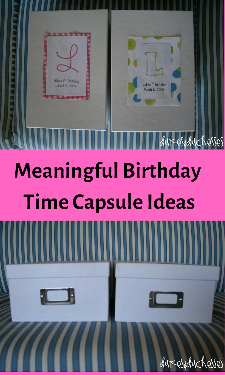 time capsule ideas for baby