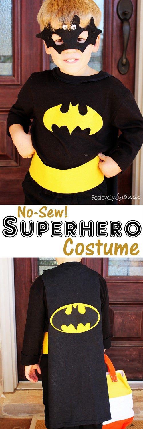 diy superhero costume no sew