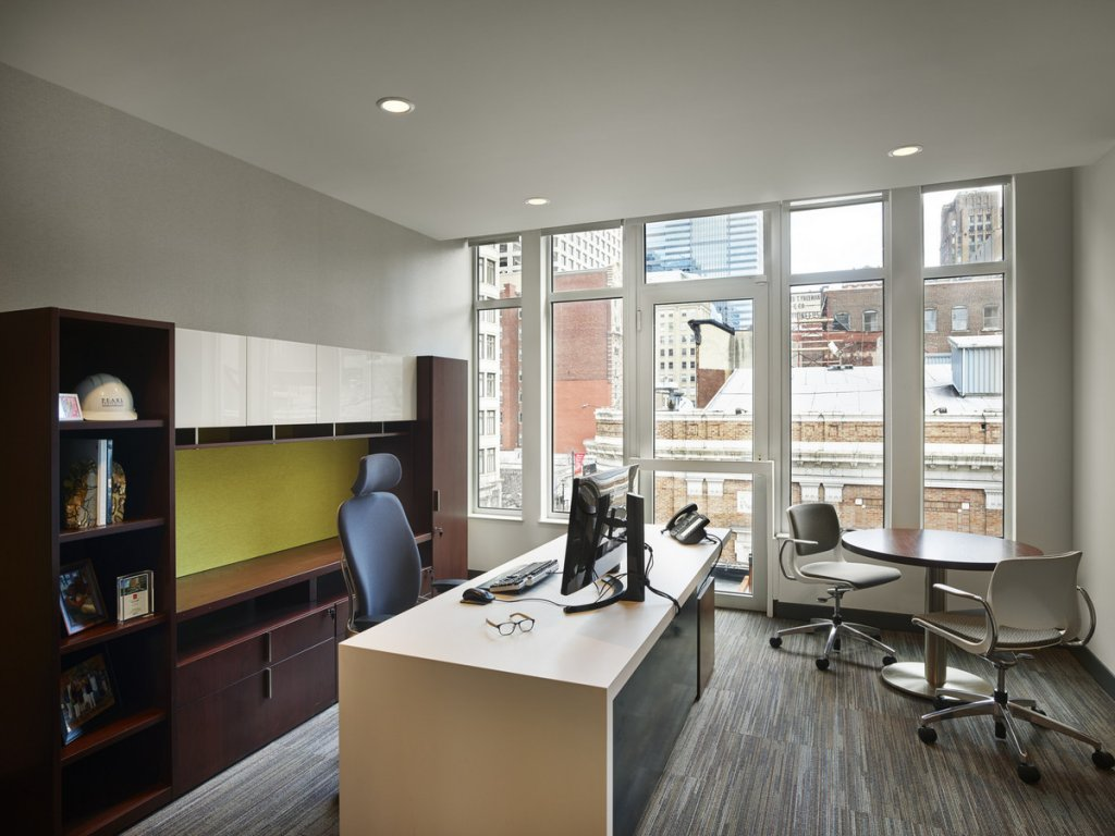 open plan office layout