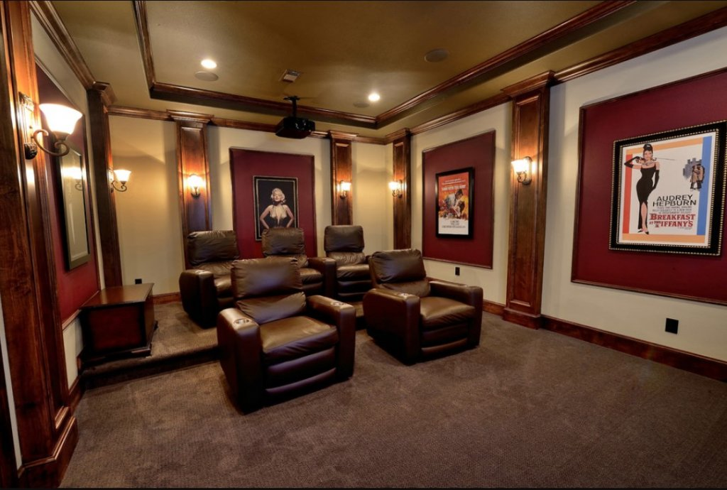 images of small media rooms