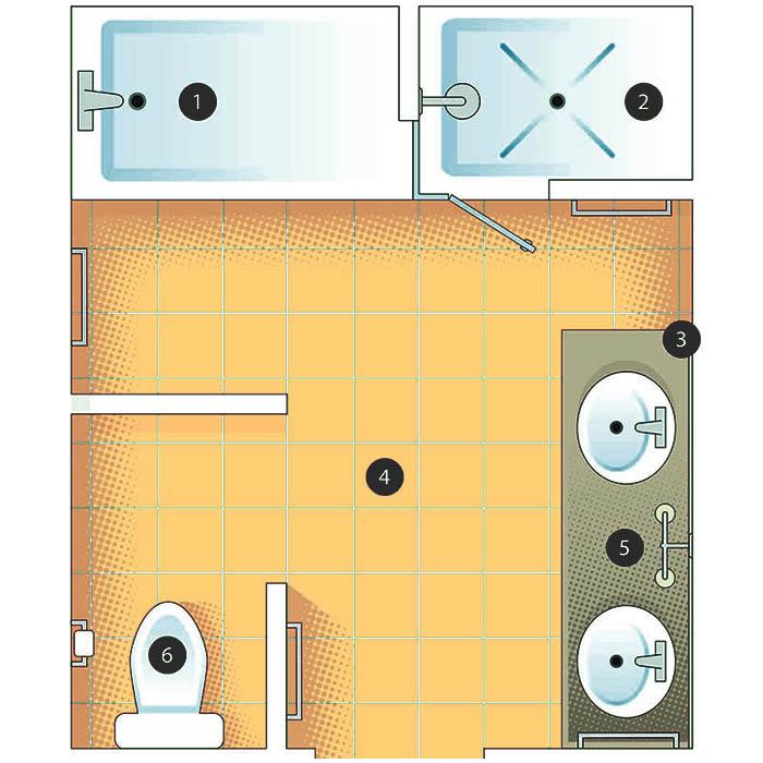 master bathroom design layout