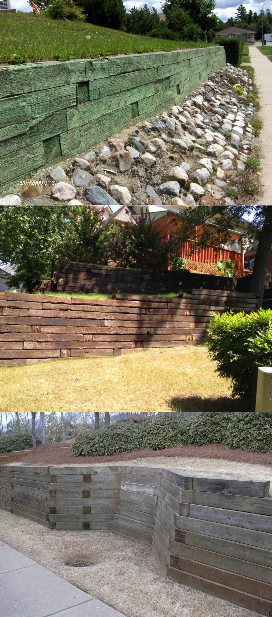 cheap strong retaining wall