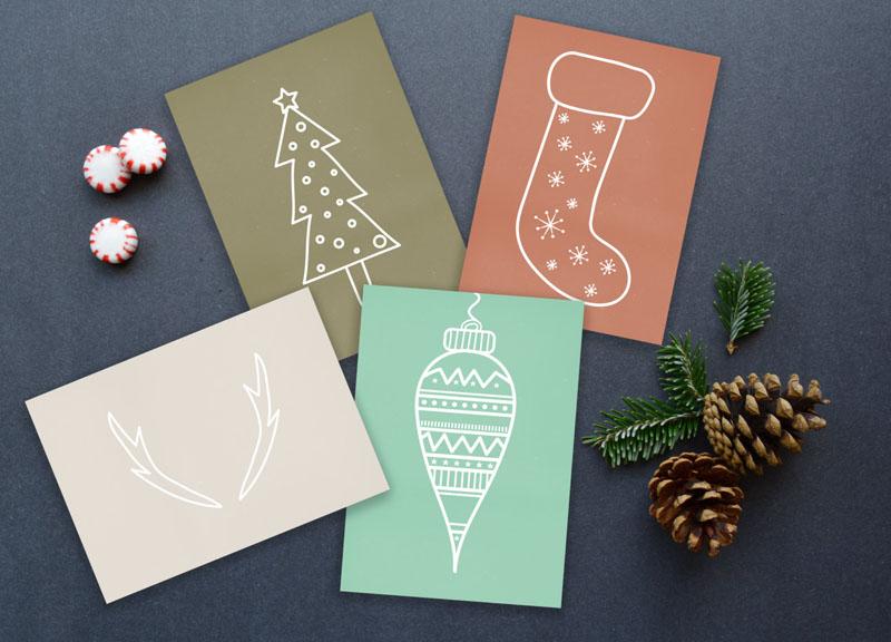 free christmas card making ideas