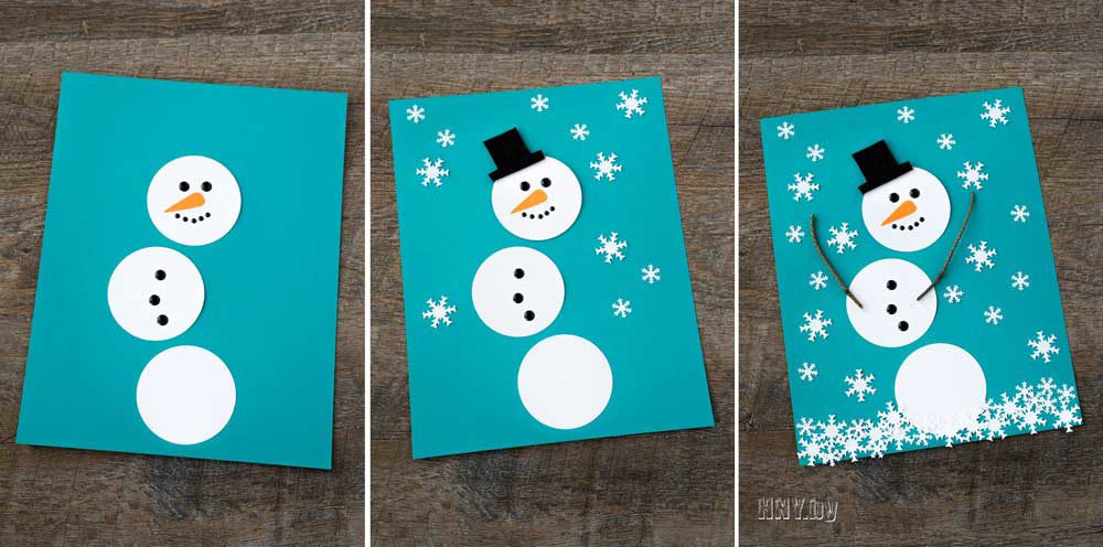easy homemade christmas cards