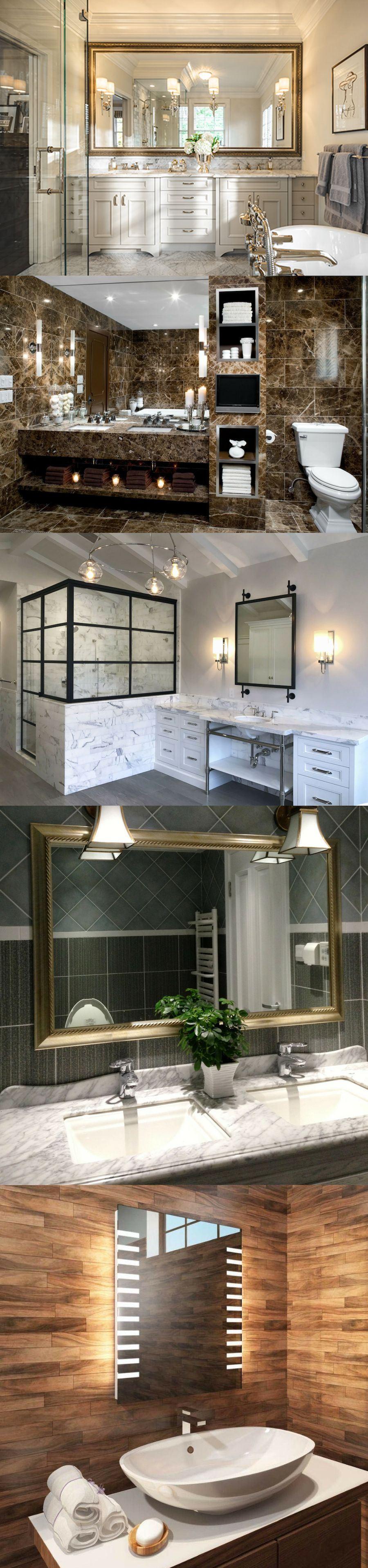 framed bathroom mirrors over vanity