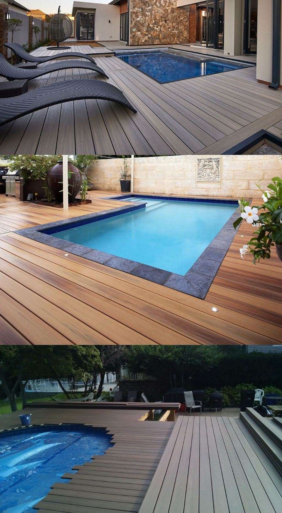 wood decks above ground pools
