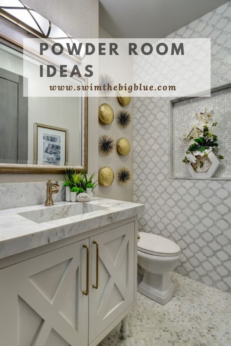 30 Awesome and Beautiful Powder Room Ideas