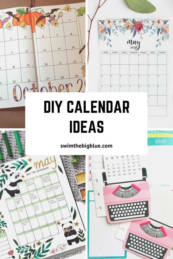 2020 DIY Calendar and Planner Ideas (New Year Resolution Planner)